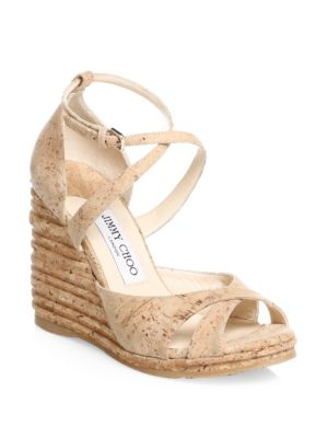 Women'S Alanah 105 Cork Platform Wedge Sandals, Natural