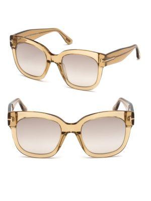 1a57e23dc1 Tom Ford 50Mm Beatrix Square Sunglasses In Brown