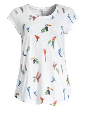 Dillon Parrot Print Tee by Joie