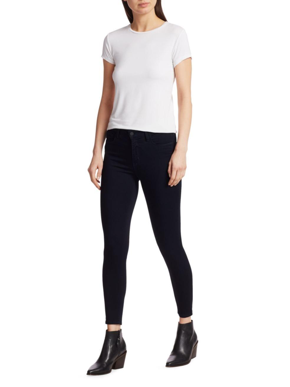 L'Agence Margot High-Rise Ankle Skinny Jeans   SaksFifthAvenue