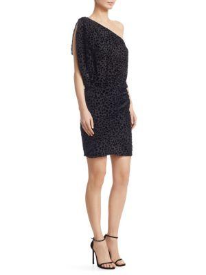 Iro Silks Moon One-Shoulder Leopard Dress