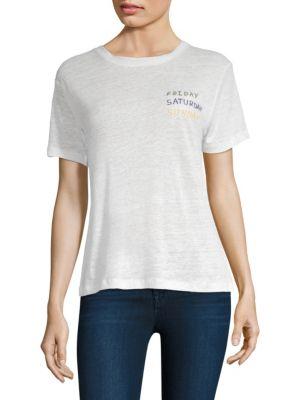 BANNER DAY Linen Weekend T-Shirt in Bone