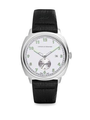 LARSSON & JENNINGS Meridian Leather Strap Watch in Black