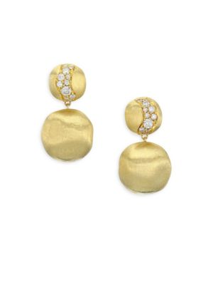 Marco Bicego Africa Diamond 18k Yellow Goldearrings