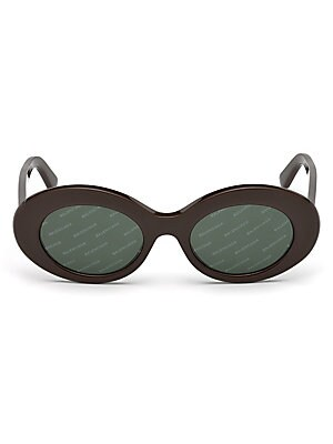 cf63bd40c47 Balenciaga - 54MM Cat Eye Havana Acetate Logo Sunglasses - saks.com