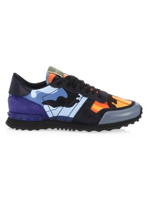 Rockrunner Multicolor Camouflage Sneakers by Valentino Garavani