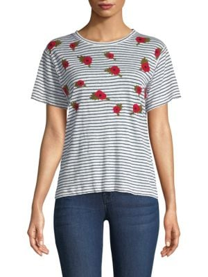 BANNER DAY British Poppies Linen Tee in Striped