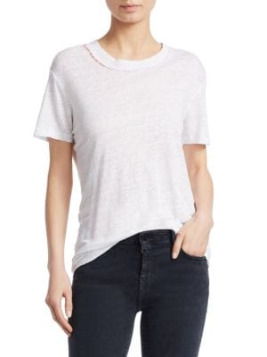 Distressed Linen Tee by Iro