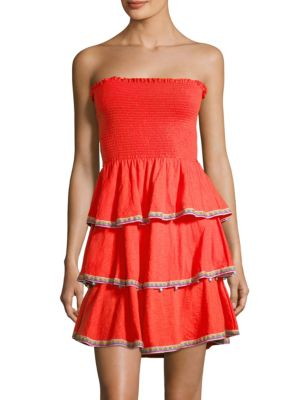 Pitusa Samba Strapless Dress