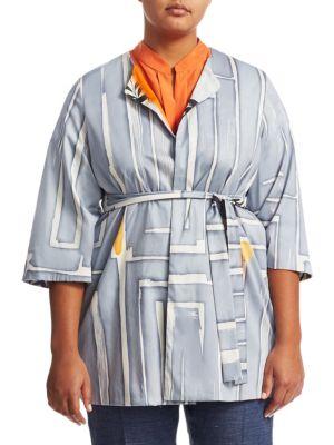 Marina Rinaldi, Plus Size Filosofo Cotton Jacket
