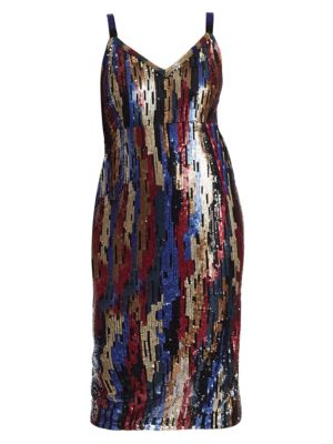 3e7bd2f08 Marina Rinaldi, Plus Size - Sequin Embellished Dress - saks.com