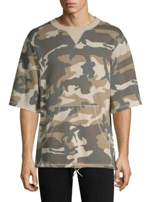 WESC Madison Camouflage Crewneck Sweatshirt in Light Woodland
