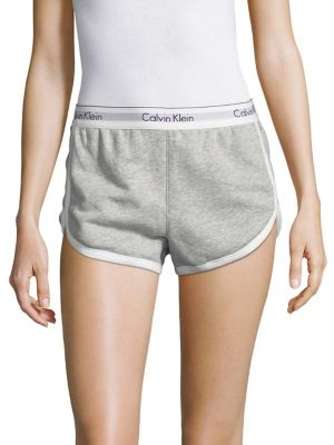 Calvin Klein Logo Sleep Shorts In Heather Grey  c0d520f1d