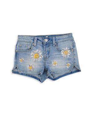 Little Girls Daisy Short Shorts