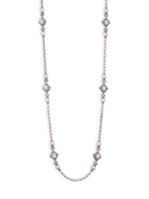 Konstantino Mother Of Pearl Station Necklace
