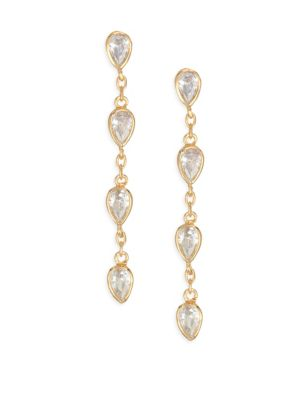 Raindrop Crystal Drop Earrings by Jules Smith