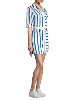 Striped Shirt Dress by Milly