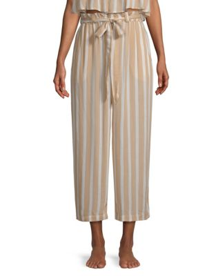 COOLCHANGE Harlyn Striped Culottes in Cafe Pearl
