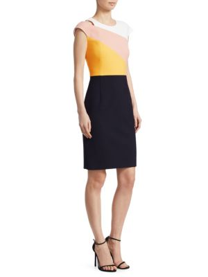Cut Out Colorblock Dress by Boss
