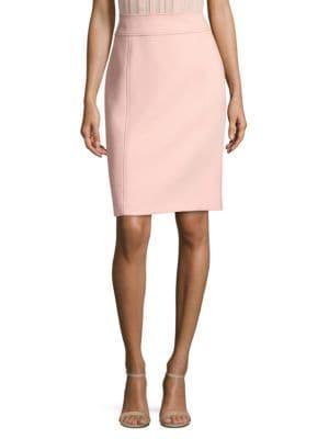 Vuleamea Soft Compact Twill Pencil Skirt by Boss