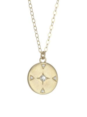 Ila Atlas 14k Gold Amp Diamond Necklace