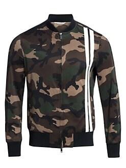 ec8ee7d8 QUICK VIEW. Valentino. Camo Stripe Front Track Jacket
