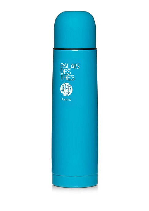Image of From the Accessories Collection. Palais des Thes invites you to take a tea break at any time of day with this insulated flask. Its stainless steel double-wall construction will keep your tea hot or cool for more than six hours. The lid can also be used as