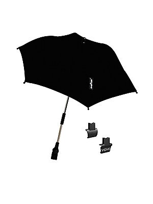 """Image of Minimalist umbrella for rainy days Automatic open and close Open diameter, 43"""" Folded length, 12"""" Polyester Imported. Children's Wear - Layette Apparel And Acce. Baby Zen. Color: Black."""
