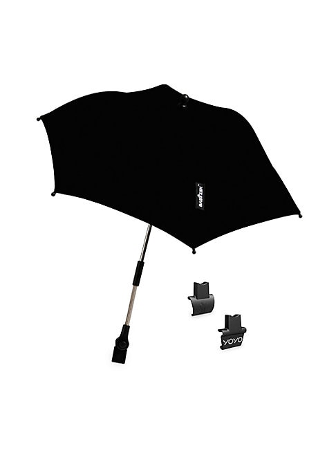 "Image of Minimalist umbrella for rainy days. Automatic open and close. Open diameter, 43"".Folded length, 12"".Polyester. Imported."