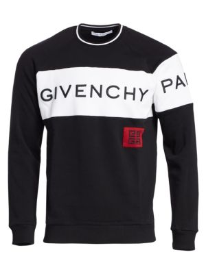 GIVENCHY Logo-Embroidered Fleece-Back Cotton-Jersey Sweatshirt in Red