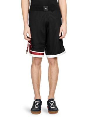 Lightning-Bolt Mesh Shorts - Black Size Xs