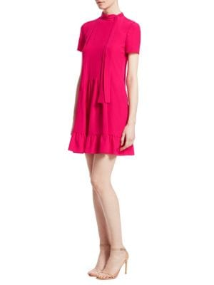 Silk Ruffle Mini Dress by Red Valentino