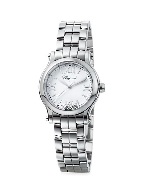 Happy Sport Stainless Steel & Diamond Bracelet Watch