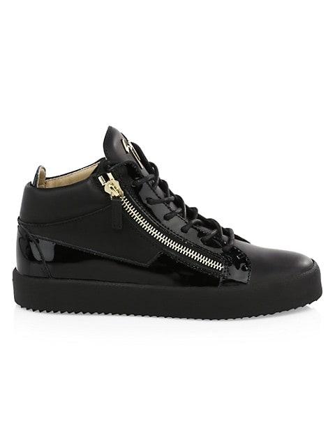 Leather Zip Sneakers
