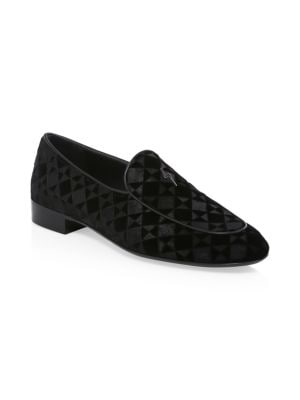 GIUSEPPE ZANOTTI New Velvet Tridimension Shoes, Nero