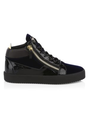 cfcf9a1f584cb Saint Laurent - Leather High-Top Sneakers - saks.com
