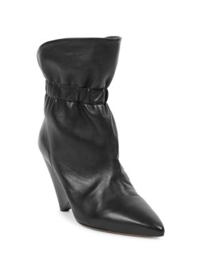 Lileas Leather Ankle Boots, Size Fr36, Women, Black