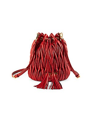 e22802157f2 Miu Miu - Metalassé Leather Bucket Bag