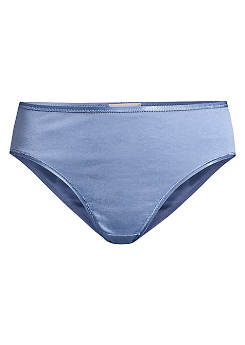 """Image of From the Cotton Seamless Collection. Stylish and contemporary briefs with seamless sides for a more flattering appearance. Elasticated waistband. Mid-rise wasit. High-cut legs. Pull-on style. Cotton. Machine wash. Made in Portugal. Model shown is 5'10"""" (1"""