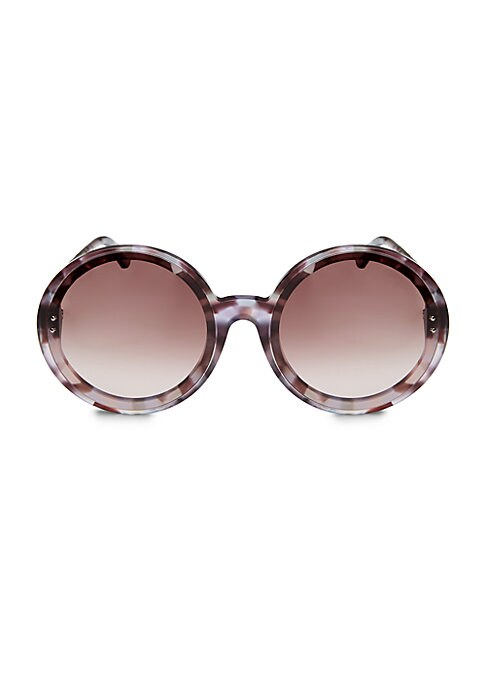 Image of From the Timeless Elegance Collection. Tortoise frames add stunning effects to sunglasses.61mm lens width; 18mm bridge width; 145mm temple length.100% UV protection. Tinted brown lenses. Case and cleaning cloth included. Acetate. Made in Italy.
