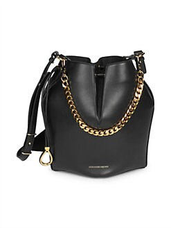 fb0942738c5b QUICK VIEW. Alexander McQueen. Dual Strap Leather Bucket Bag