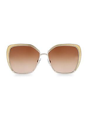 c7b0ea5267c0 Chloé - Turtledove 62MM Oversized Round Sunglasses - saks.com