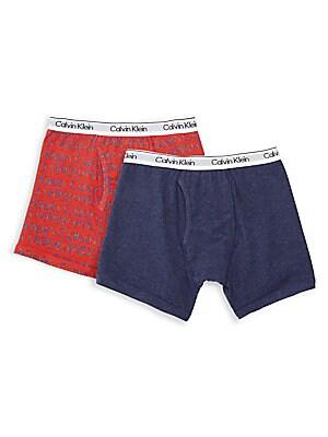 e58c6b400c6a Calvin Klein - Boy's Stripe Stretch Cotton Boxer Briefs/Pack of 2 ...