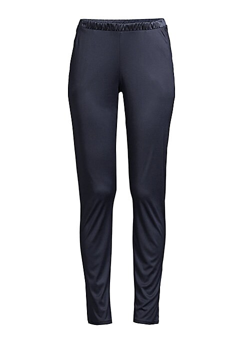 Image of Luxurious nights are guaranteed in Grand Central. Sophisticated styles of a supple, micromodal and silk blend with a beautiful sheen and refined silk details. This elegant pant can be worn to sleep as well as in a stylish, contemporary ready to-wear manne