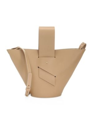 Amphora Mini Tan Crossbody Bag in Cappuccino