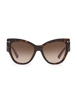 f07025e89a212 Valentino. 55MM Butterfly Sunglasses