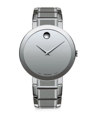 MOVADO Sapphire Stainless Steel Bezel-Free Bracelet Watch in Silver