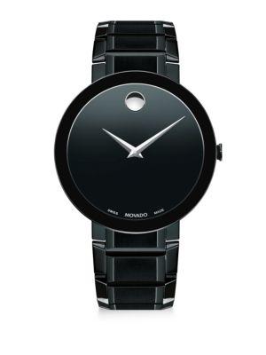 Movado Sapphire Black Pvd Stainless Steel Bracelet Watch