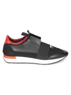 040b2f71ab872 Balenciaga Race Runner Sneakers. Sleek leather and mesh paneled sneakers ...