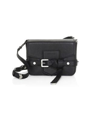 Lexi Grained Leather Crossbody Bag - Black